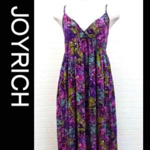 JOY RICH/ purple flower print dress